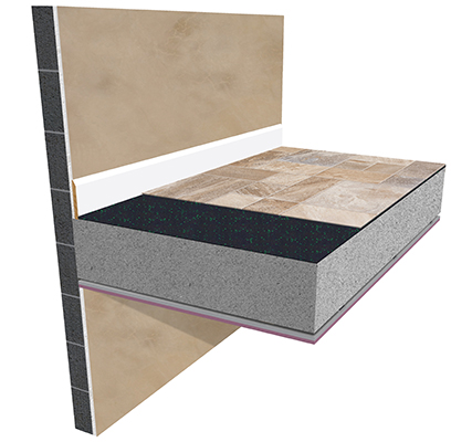 Acoustilay Tilemat Soundproofing underlay for tiles