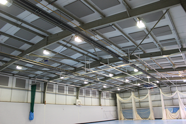 Acoustic Absorption in sports hall
