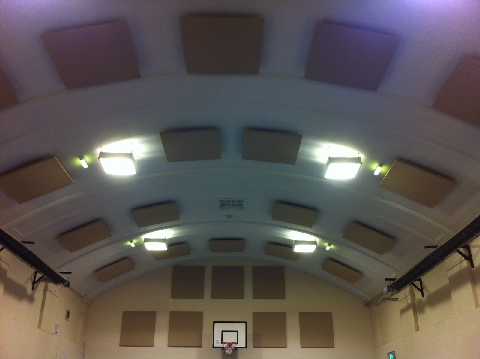 Soundproofed School Sports Hall Ceiling