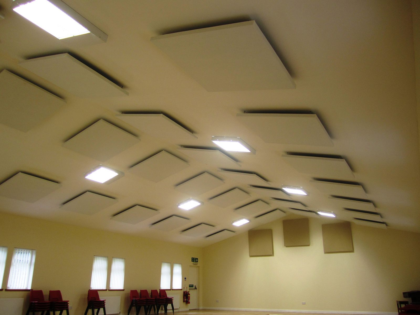 Sonata Vario acoustic absorption panels used in Fife Church Hall