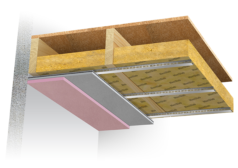 SRS Maxiboard fire and acoustic rated ceiling system