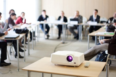 Projector In An Office
