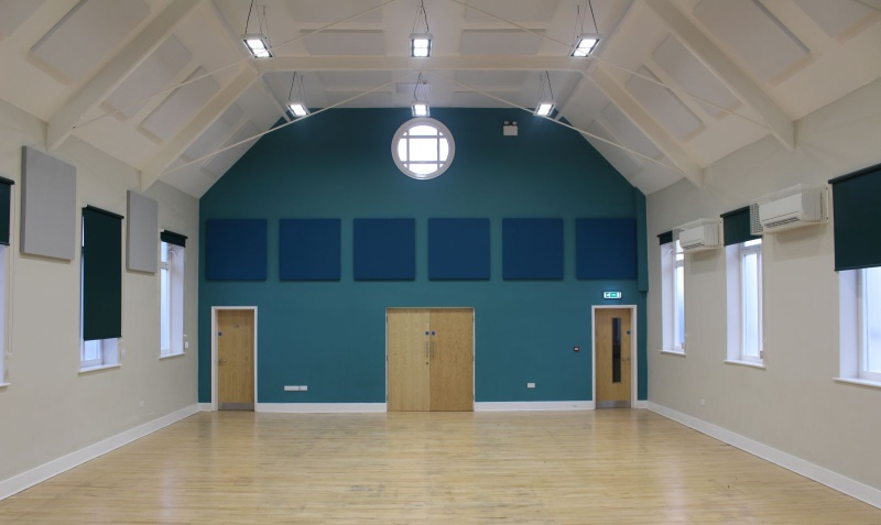 SRS Acoustic Absorption Panels within Village Hall